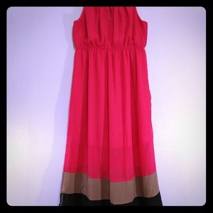 Delirious Los Angeles Pink Maxi Dress 2X
